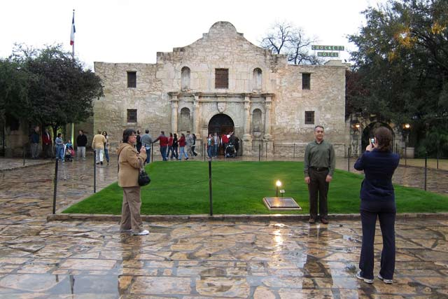 Exploring the attractions of Alamo Plaza