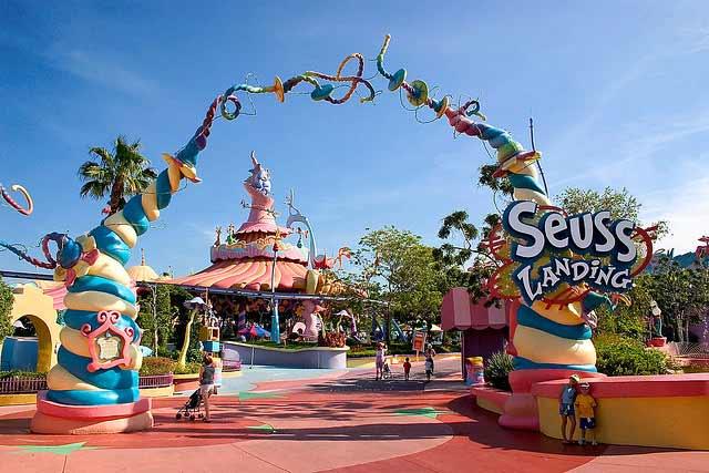 Universal Island of Adventure Orlando Florida attractions
