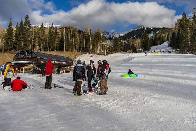 Skiing at Arizona Snowbowl Flagstaff